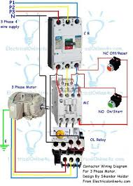 contactor wiring guide for 3 phase motor with circuit breaker 3 Phase Motor Circuit Diagram contactor wiring diagram for 3 phase motor 3 phase motor control circuit diagram