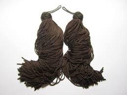 <b>Chinese knot tassels</b> CHOCOLATE BROWN one pair elegant | Etsy