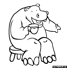 Small Picture Hippo Coloring Page Free Hippo Online Coloring