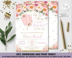 Blush <b>Pink</b> Floral <b>Hot Air Balloon</b> – The Happy Cat Studio