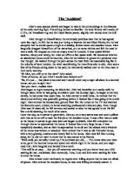 english descriptive writing    the accident    gcse english  page  zoom in