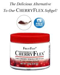 <b>Tart Cherry</b> Gel | Underwood Orchards CherryFlex <b>Whole Fruit</b> Gel Jar