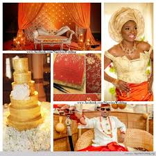 Red, <b>Gold</b>, and Orange! I want this beautiful <b>Nigerian</b> wedding ...