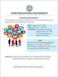 interview preparation workshop on at northeastern org jfworkshop flyer interview preparation