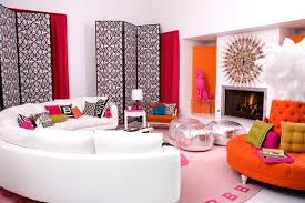 how to decorate large living room large living room with round furniture in bold pink big living room furniture living room