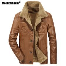 Mountainskin <b>2018 New Men's</b> Leather Jacket PU Coats <b>Mens</b> ...