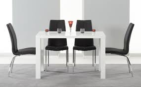 black and white dining table set: small high gloss dining table sets
