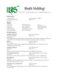 ruth siddiqi graphic design resume resume