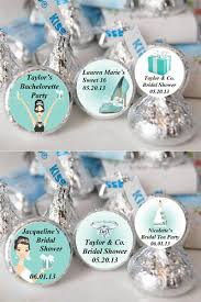Breakfastat Tiffany party favors, chocolate wrapped in silver