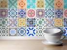 Revetement mural adhesif pour cuisine marocaine