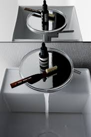 brushed steel bathroom taps pt sophisticated urban collections kartell by laufen
