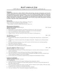 resume sample college intern pharmacy college resume  s