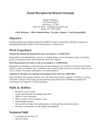 medical receptionist resume sample medical receptionist resume ... Objective For A Receptionist Resume