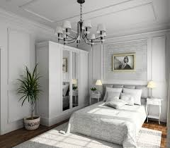 amazing white wood furniture sets modern design: ornately decorated bedroom with white paneling built in white wardrobe wood floor and