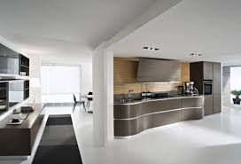 white kitchen windowed partition wall: stylish kitchen wall decor white painted walls dark brown furniture white flooring white ceiling