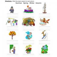 Seasons of the Year Worksheets - Have Fun TeachingClassifying Seasons Worksheet – Pictures
