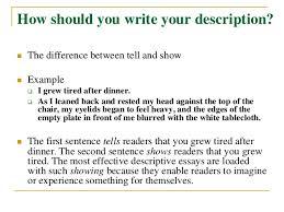 how to write a descriptive essayhow