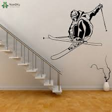 Aliexpress.com : Buy <b>YOYOYU Wall Decal</b> Skiing <b>Wall Sticker</b> Vinyl ...