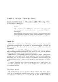 (PDF) Cytotaxonomical remarks on Allium pallens and its ...