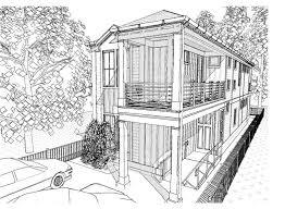 Shotgun Style House plan for  Georgetown Shotgun Style Home
