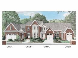 Page of   Multi Family House Plans  Triplexes  amp  Townhouses    Plan M