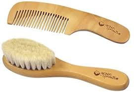 green sprouts <b>Baby Brush & Comb</b>-Natural-Adult use only, Brown ...