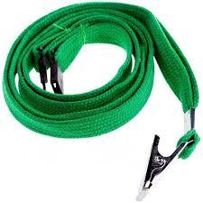 <b>Набор</b> шнурков для бейджей <b>Berlingo</b>, 45см, с клипсой, зеленые ...