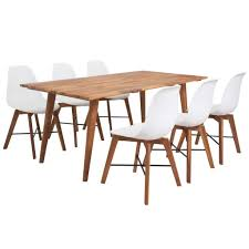 <b>Seven Piece Solid Acacia</b> Wooden Dining Set White Sale, Price ...
