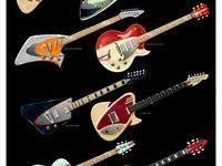 <b>Гитара</b>: лучшие изображения (1094) в 2019 г. | Guitars, Cool guitar ...