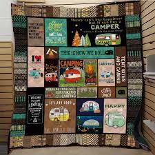 <b>SOFTBATFY</b> Camping Caravan Quilt Print All Season Quilt For Bed ...