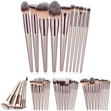 champagne makeup brush set foundation blush eye shadow concealer lip beauty