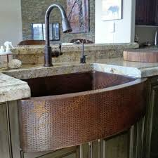 hammered copper kitchen sink: premier copper  inch hammered copper kitchen rounded apron single basin sink