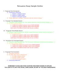 sentence outline for an argumentative essay  sentence outline for an argumentative essay