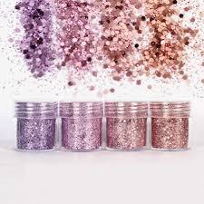 Detail Feedback Questions about <b>4 Pots</b>/Set Chunky Glitter Powder ...