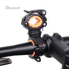 Deemount <b>Bicycle Light Bracket Bike</b> Lamp Holder LED Torch ...