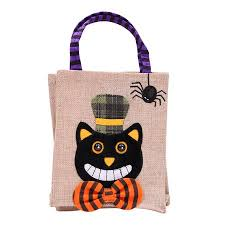 Ustyle <b>Halloween</b> Linen Cloth <b>Pumpkin Witch Pattern</b> Gifts Candy ...