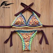 <b>2016</b> New <b>Handmade Crochet</b> Bikini Set <b>Women Crochet</b> Swimsuit ...