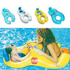 Mother <b>Child</b> Inflatable Ring <b>Swimming</b> Circle <b>Baby</b> Float Double ...