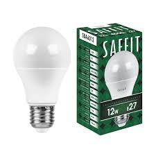 <b>Лампа</b> светодиодная <b>SAFFIT</b> SBA6012 Шар <b>E27</b> 12W 4000K ...