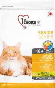 <b>1st Choice</b> Nutrition Mature-Less Active <b>Senior</b> Cat Chicken Formula ...