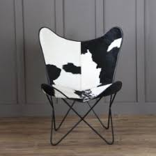 Cow Hide <b>Butterfly Chair</b> (<b>Black</b>)