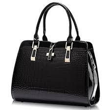 Women's Tote Top Handle Handbags Crocodile ... - Amazon.com