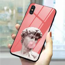 <b>Vintage</b> Plaster <b>Statue Glass</b> Phone Cover for Samsung A50 A60 ...