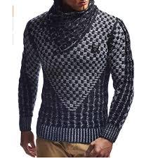 <b>ZOGAA</b> Hooded <b>Sweater</b> Men Horn Buckle Knitted <b>Pullovers</b> 2019 ...
