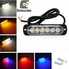 <b>2x 12V 6</b> LED Car Strobe Flash Light Emergency Warning Flashing ...