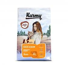 <b>Сухой корм Karmy Hair</b> & Skin, для взрослых кошек старше 1 года ...
