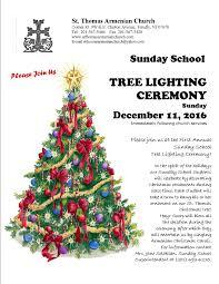sunday school tree lighting st thomas n apostolic church flyer the sunday school