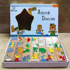 <b>Free shipping wooden</b> animal puzzles domino toy, 15PCS <b>cartoon</b> ...