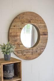 small circle wall mirror combined