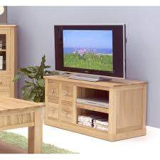 mobel oak four drawer television cabinet baumhaus mobel solid oak extra